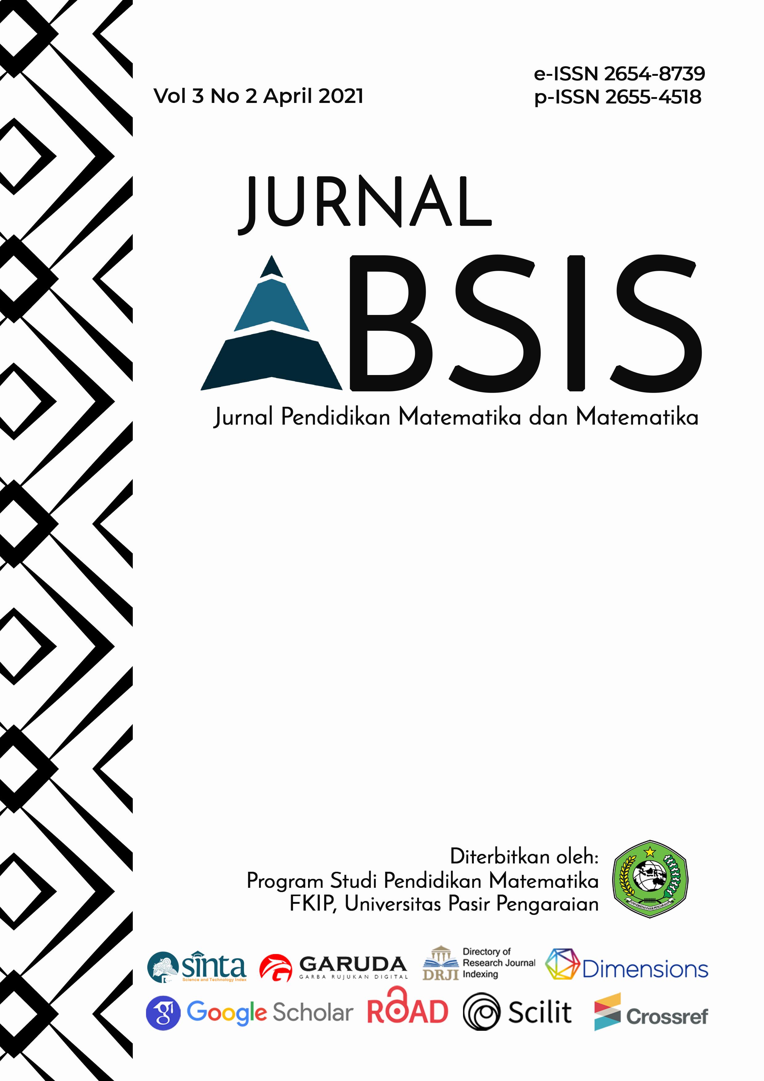 View Vol. 3 No. 2 (2021): Jurnal Absis